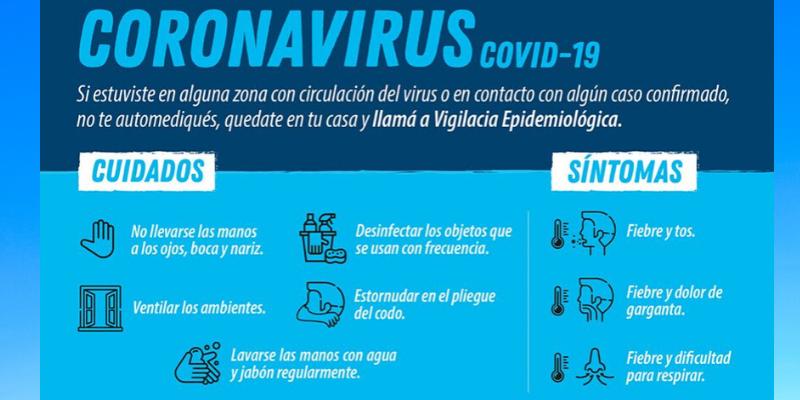 RECOMENDACIONES PARA PREVENIR EL CORONAVIRUS